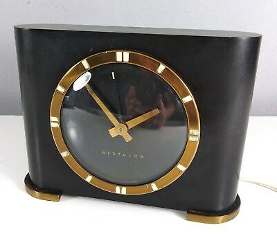 Lovely rare 1930s Art Deco Bakelite Westclox Ben Franklin Electric mantle Clock