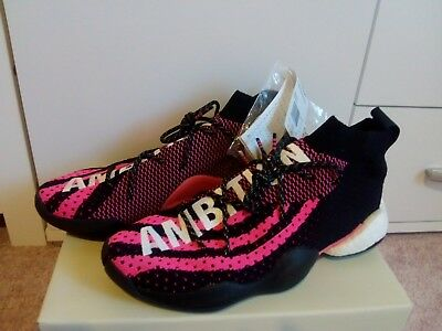 6946c9b3f28d8 ADIDAS CRAZY BYW LVL X PW Pharrell Williams G28182 Black 42 8.5 ...