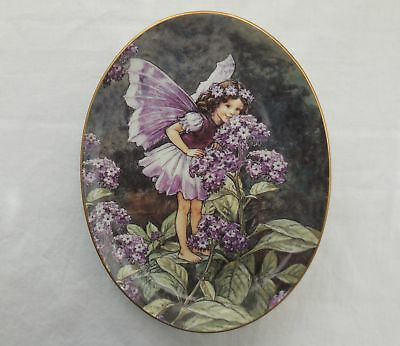Royal Worcester Cicely Barker The Heliotrope Flower Fairy Oval Plate