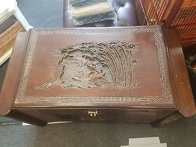 Trunk/Chest Camphor Wood Chinese Carved