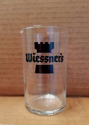 Vintage  Wiessner's Beer Glass Chaser Baltimore Maryland