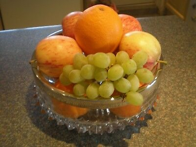 Vintage Salad/Fruit Bowl with Silver Plate on Brass Rim by Yeoman of England