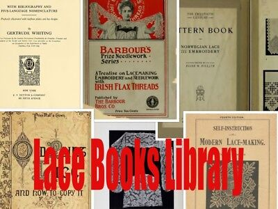 183 Old LACE BOOKS DVD Making Collecting Patterns, Irish, Bobbins, Dentelle Disc