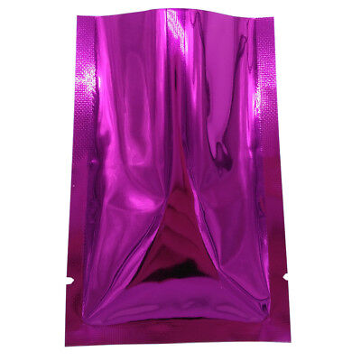 Purple Aluminum Foil Package Bag Mylar Flat Heat Vacuum Seal Food Storage Pouch