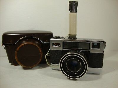 VTG Fujica 35 auto-M Camera with f2.8 Lens and flash unit-not tested with film
