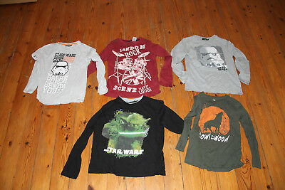 Lot De 5 Tee Shirts Manches Longues - Taille 8 Ans