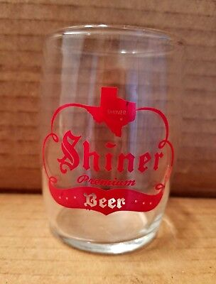 Vintage Shiner Premium Beer Barrel Glass Chaser Texas