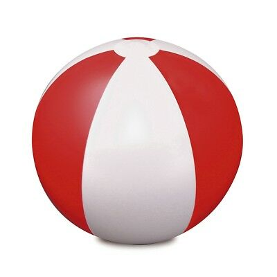 "Red 9"" Inflatable Blow Up Panel Beach Ball Swimming Pool Party Holiday Toy Game"