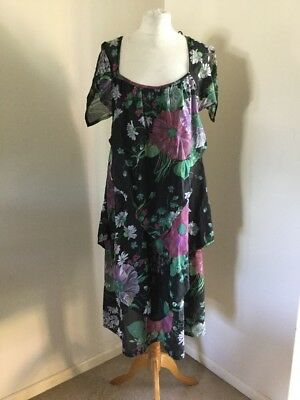 Vintage Unique Floaty Summer Dress Large Boho Romantic