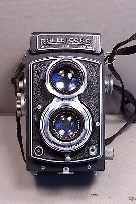 Vintage Rolleicord TLR Film Camera w/Xenar 75mm f3.5, Germany
