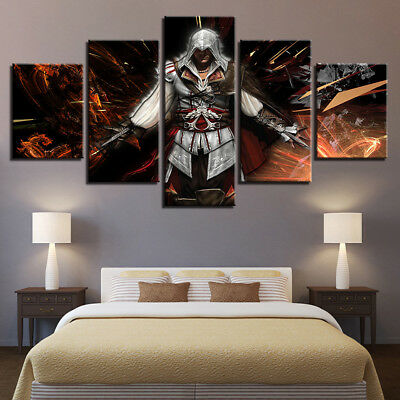 Home Decor Assassin's Creed Movies Canvas Prints Painting Wall Art Poster 5PCS