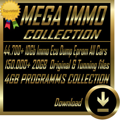 ECU Immo Collection | 44,700 ECU EPROM FILES | 20GB Ori & Tunne Files |Software