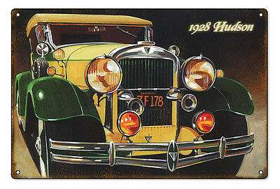 "Reproduced from Original Art by Bob Miller 1928 Hudson Sign. 12"" x 18"""