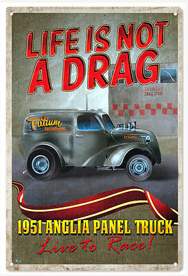 Anglia Panel Truck Hot Rod Sign Classic/Hot Rod Car Signs