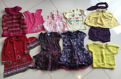 Girls Clothes Bundle Age 18-24 Months M&S Autograph, Gap, Butterfly, Vertberdet