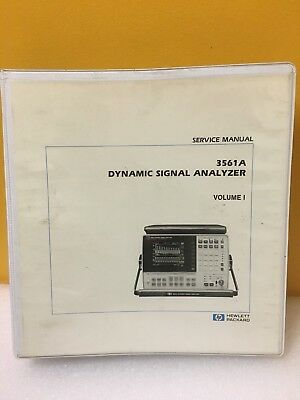 R147501 hp 3561a dynamic signal analyzer w/ manual | ebay.