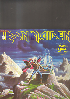 """IRON MAIDEN - run to the hills EP 12"""" made in GERMANY"""