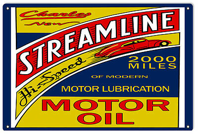 Charley Streamline Motor Oil Sign