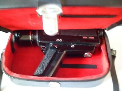 Chinon 872 Auto Zoom Super 8  Hand Held Trigger Action Video Camera with case