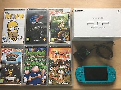 PSP 3003 Torquoise Green With 5 Games, Movie and Memory Stick