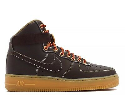 🔥$90 Nike Air Force 1 High GS 6.5 Boots Sneakerboots Brown max 90 95 jordan 1 4