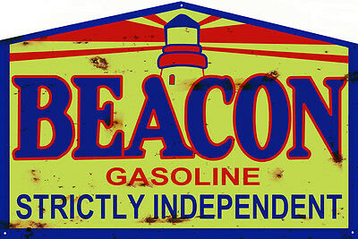 Reproduction Beacon Independent Gasoline Sign 16X24