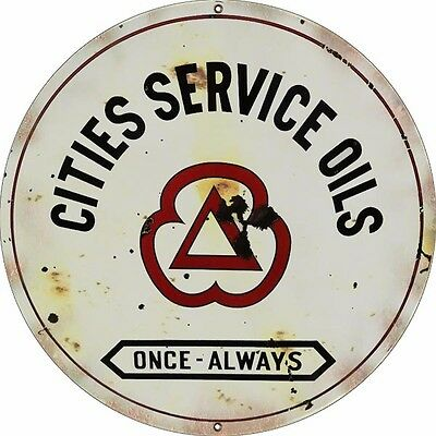Reproduction Cities Service Oils 18 Round Sign