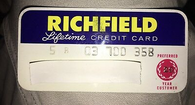 1965 Richfield Oil Company Charge A Plate Credit Card Gas Arco