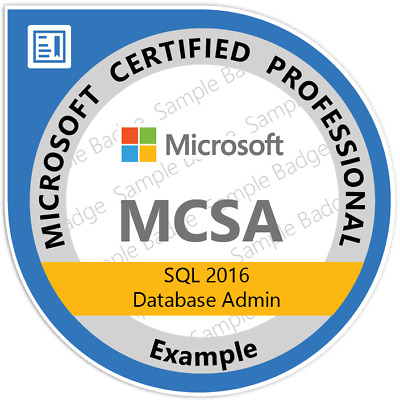 MCSA: SQL 2016 Database Administration, Exams 70-764, 70-765, Q&A PDF Only