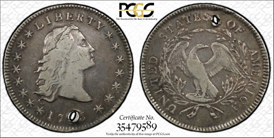 1795 Dollar PCGS certified VF w/hole. Nice Details.