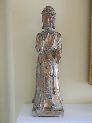 Vintage Chinese Figurine statue , 22 inches tall about 6.2 pounds