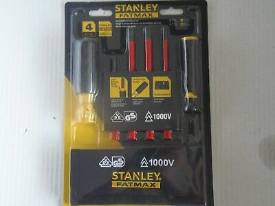 Stanley Fatmax 4 Pc Insulated Screwdriver Set 1000V W/carrying Pouch(Trl-Po-81)