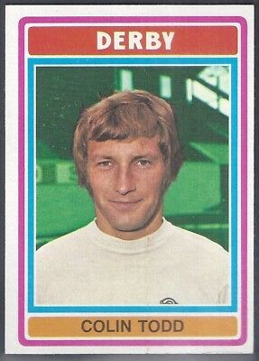 Topps-Football (Blue Back 1976)-#030- Derby County - Colin Todd