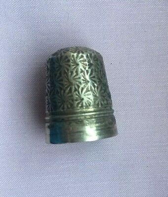 Antique Tested Sterling Silver Thimble
