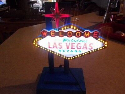 """Las Vegas Light Up sign 14"""" All lights Working adapter included"""