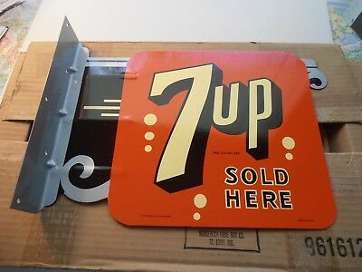 New in Box 7up Flange sign Made by Stout in USA