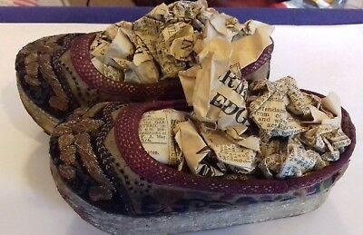 ANtique Japanese embroidered ladies/children's shoes