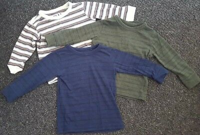Next 3 X Long Sleeve Tops Age 12-18 Months