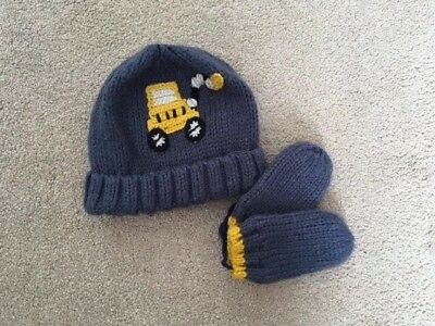 Next Boys Hat And Mittens Set - 1-2 Yrs
