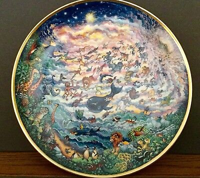 Franklin Mint In the Beginning, Bill Bell Religious Series Collector Plate