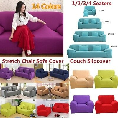 Elastic Slipcover 1/2/3/4 Seater Stretch Chair Sofa Covers Couch Cover Protector