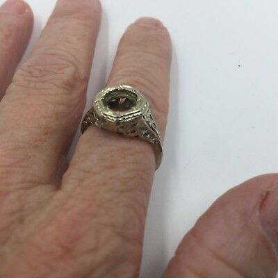 Art Deco Filigree Ring for Scrap 14K Weighs 1/8 of an ounce