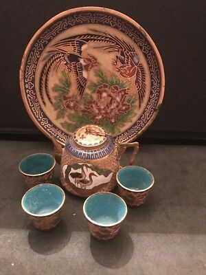 Vintage Antique Closine' Japanese Miniature Tea Set