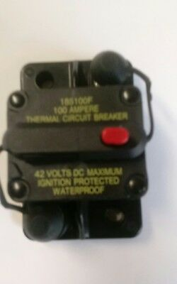 Bussman DC Circuit Breaker 100 Amp Surface Mount p/n  185100F 42 volts dc max