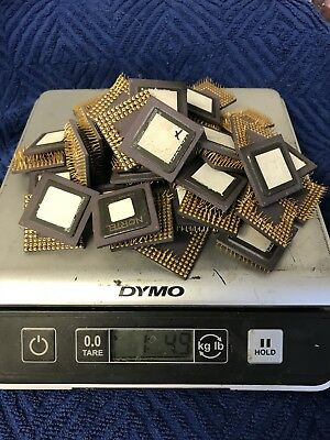 50 Notel Cpu Processor Chips Gold Scrap Recovery Vintage Collect