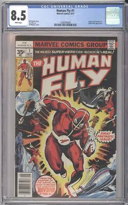 Marvel Comics THE HUMAN FLY #1 CGC 8.5 White Pages RARE .35 Cent Price Variant!