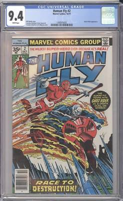 Marvel Comics THE HUMAN FLY #2 CGC 9.4 White Pages RARE .35 Cent Price Variant!