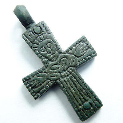 Authentic Ancient Cross, Crucified Christ, Our Lady of Oranta XI-XII centuries