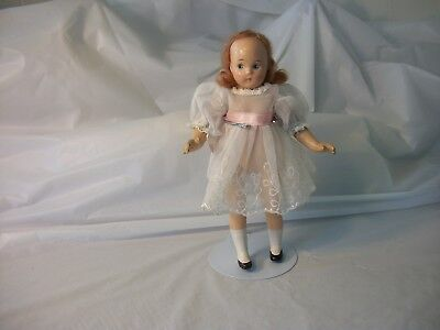 """1930's Madame Alexander 7"""" Compostion Tiny Betty Doll Red Mohair Painted Face"""