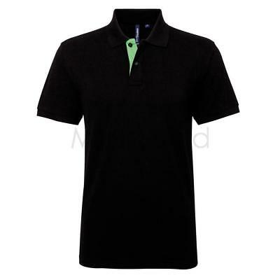 Asquith & Fox Mens Classic Fit Contrast Polo
